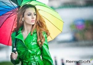 Rain requires a good sulfate free shampoo.