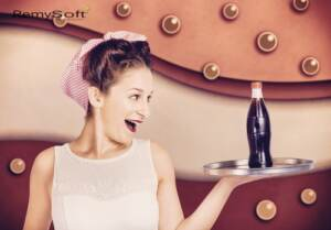 Create a retro 50s look with hair products for remy hair.