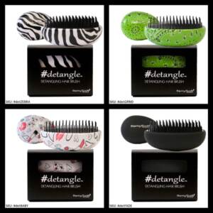 Turn to a detangling brush for quality hair care.