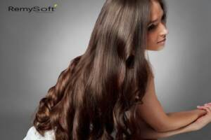 Shiny hair extensions require special care for winter.