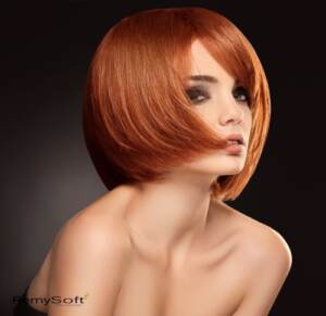 Complement a contoured cut with hair products for remy hair.