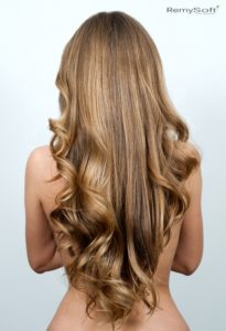 Create beautiful styles with hair extensions.