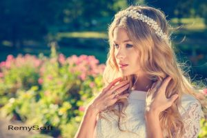 Help your hair look great on your wedding day with our hair products for Remy hair!