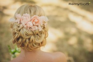 Don't forget to use some sun protection for hair on your big day!